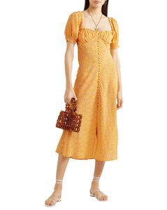 Woman Tammy Ruffled Floral-print Silk-georgette Dress