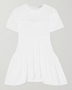 Carmin Cotton-blend CloquéAnd Poplin Blouse - UK6