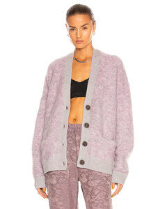Rives Mohair Cardigan in Purple