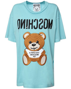 Logo Teddy Bear Cotton Jersey T-shirt