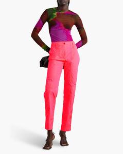 Inalio褶饰褶皱棉质混纺连衣裙