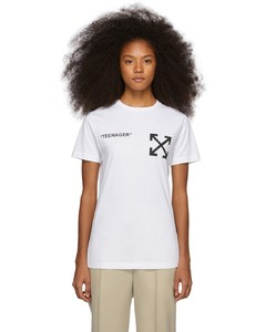 White Flamed Bart Slim T-Shirt