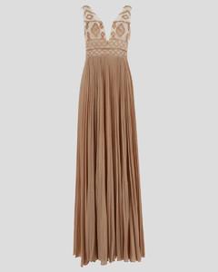 Shirring Belted Shirts Dress_Brick