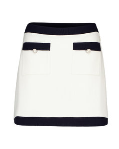 Virgin wool miniskirt