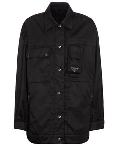 Re-nylon gabardine jacket