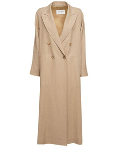 Linen Canvas Double Breasted Coat