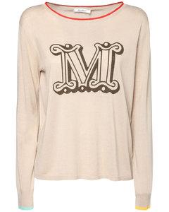 Logo Silk & Linen Sweater
