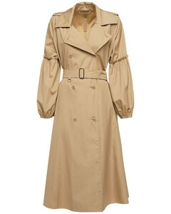 Belted Cotton Poplin Trench Coat