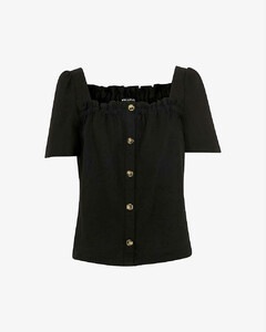 skirt in houndstooth wool blend