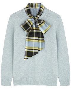 Madras Dickey light blue wool jumper