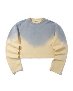 Cropped gradient sweatshirt