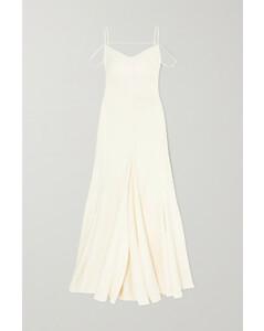 Open-back Cutout Linen Gown - FR34