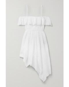 Timoria Asymmetric Broderie Anglaise Cotton Dress - FR34