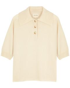 Saziley cream cashmere top