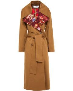 Woman Fil CoupéJacquard And Gabardine Trench Coat