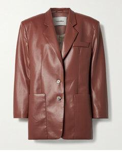 Evan Vegan Leather Blazer