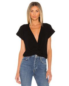 White fringed denim shirt