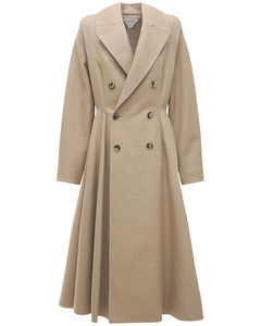 Double Cotton Canvas Trench Coat