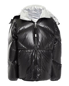 Woman Quilted Shell Down Hooded Jacket