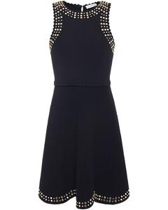 Woman Jenn Scalloped Embellished Stretch-knit Mini Dress