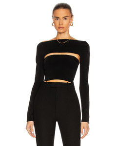 Two Piece Tube Top in Black