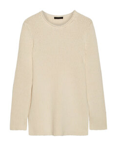 Woman Ribbed Cotton-blend Sweater