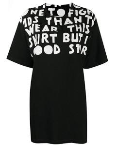 Oversized slogan print t-shirt