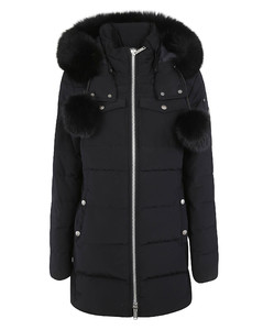 Fur Detail Mid-length Padded Jacket