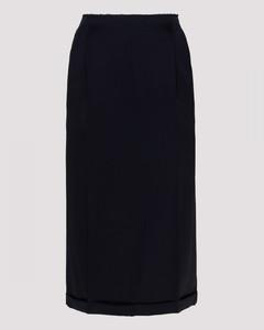 Navy high-waisted skirt