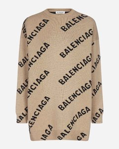 All-over logo wool sweater
