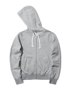 Drawstring zip through hoodie