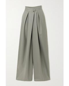 Hope Pleated Merino Wool Wide-leg Pants