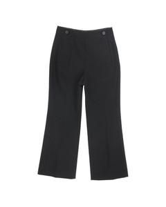 Logo-band stretch viscose cropped sweatshirt