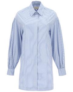 ZENA STRIPED SHIRT DRESS