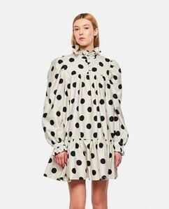 Ruffled Cotton Printed Mini Dress