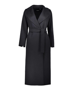 Poldo black wool coat