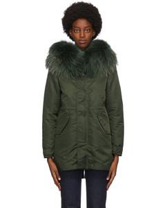 绿色New York轻量羽绒大衣