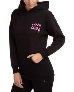 Calvi black wool-blend trousers