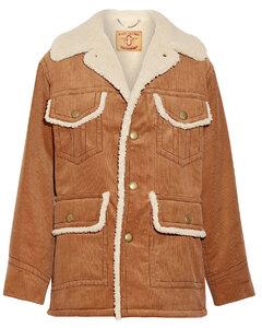 Woman Faux Shearling-lined Cotton-corduroy Coat
