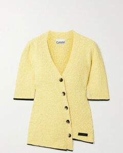 Asymmetric Organic Cotton-blend BoucléSweater