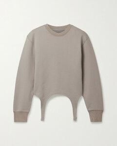 Garter Cotton Sweatshirt