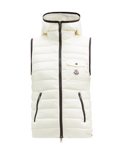 Glyco hooded quilted down gilet