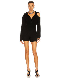 Letizia Romper in Black