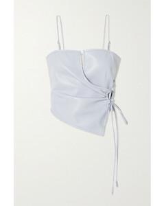 Net Sustain Cosimo Vegan Leather Wrap Top