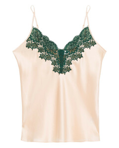 Woman Lace-trimmed Silk-satin Camisole