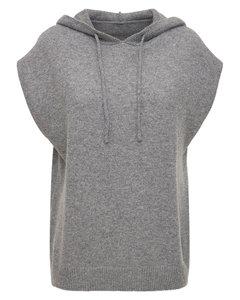 Juno Sleeveless Wool Blend Knit Hoodie