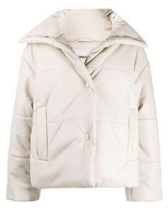 press-stud padded jacket