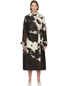 多色Leanna Cow Print风衣