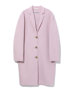 Single-breasted brushed wool coat