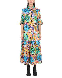 Navy polka-dot silk blouse